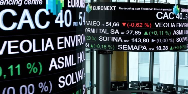 La Bourse de Paris s'enfonce dans le rouge dans un contexte défavorable au risque