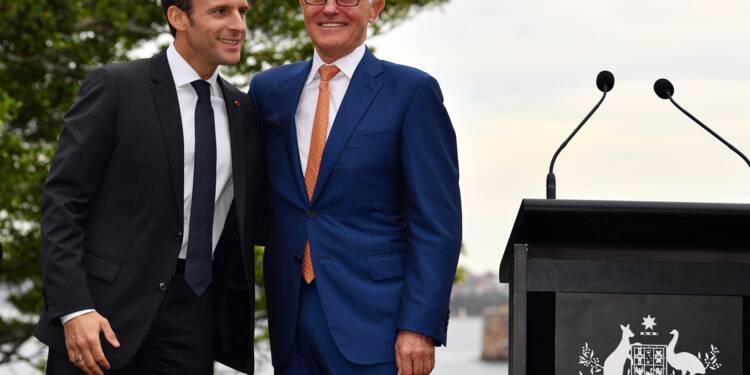 Macron signe plusieurs accords avec l'Australie
