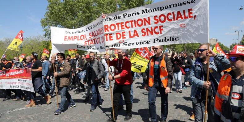 """Les cheminots dans la rue pour montrer leur """"détermination"""" avant Matignon"""
