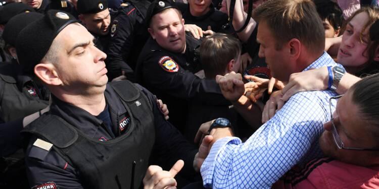Russie: l'opposant Navalny et plus de 1.500 manifestants arrêtés