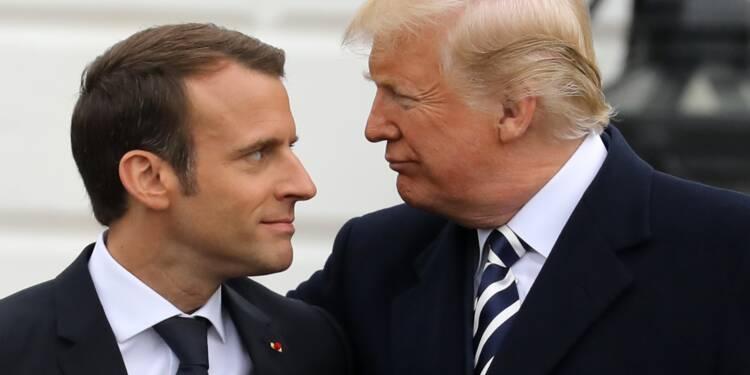 """Macron et Trump se sont entretenus de """"la paix et la stabilité au Moyen-Orient"""""""