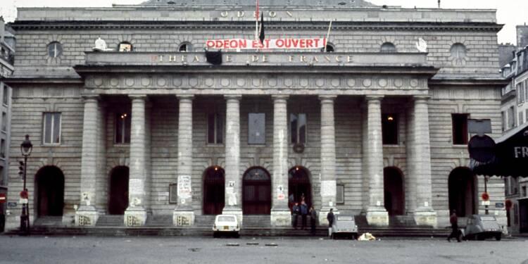 """Mai 68 vu par l'AFP - A l'Odéon, Barrault annonce sa """"mort"""""""