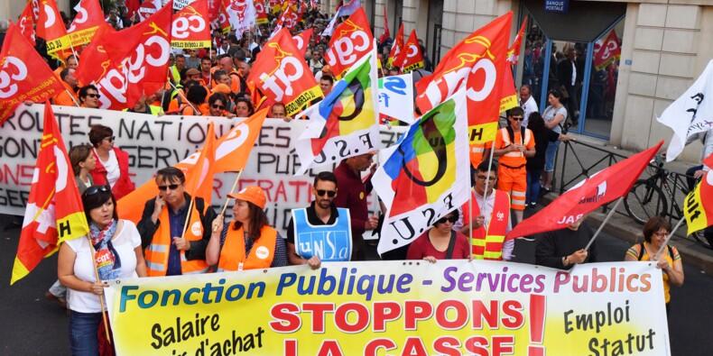 Les fonctionnaires manifestent pour leur statut et les services publics