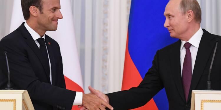 """Iran, Syrie, Ukraine: Macron veut """"avancer"""" avec Poutine malgré les """"incompréhensions"""""""