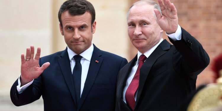 Poutine reçoit Macron à Saint-Pétersbourg pour parler Iran, Syrie et Ukraine