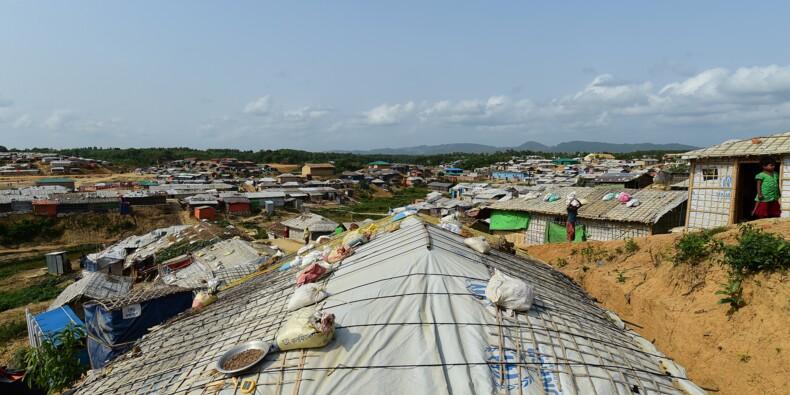 """""""Nous mourrons"""": au Bangladesh, les camps rohingyas à la merci de la mousson"""