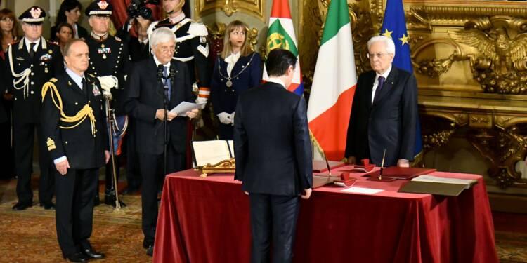 Le gouvernemnt populiste prête serment en Italie