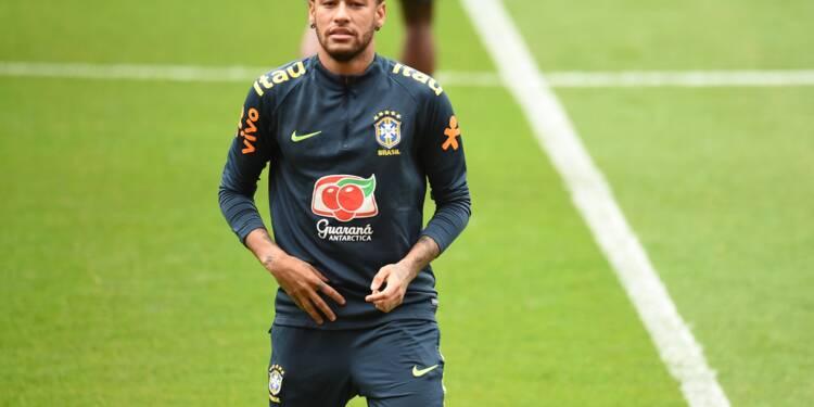 Brésil: Neymar jouera la 2e période du match amical contre la Croatie