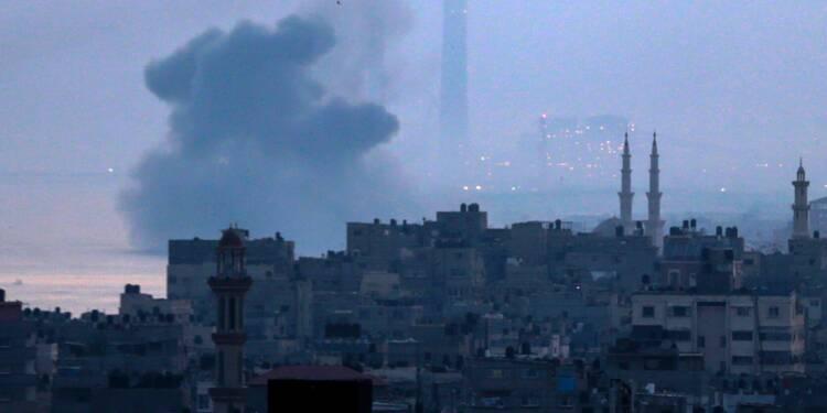 Nouveaux raids israéliens sur Gaza et tirs palestiniens sur Israël
