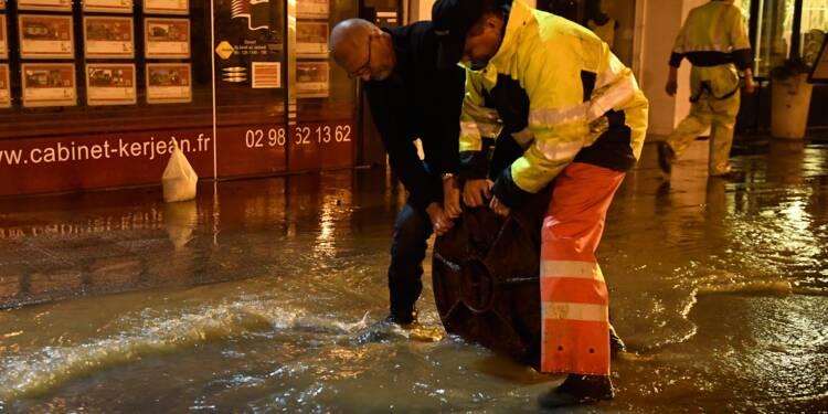"""Morlaix inondé : """"en une demi heure, un mois de pluie"""""""