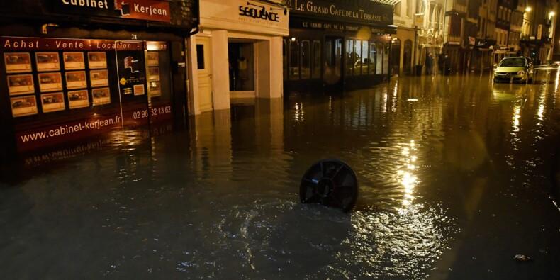 La France sous les orages, inondations en Bretagne