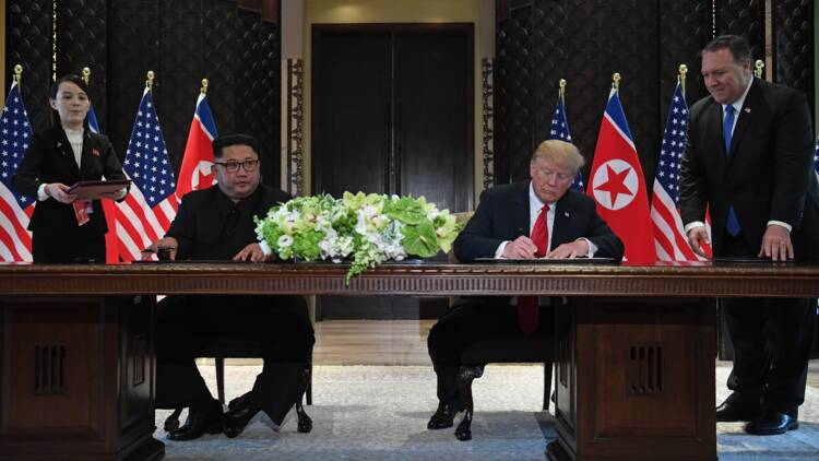 """""""Premier pas"""" ou sommet """"historique"""", les réactions au sommet Trump-Kim"""