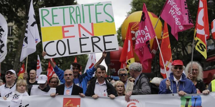 Les retraités dans la rue pour protester contre la politique du gouvernement
