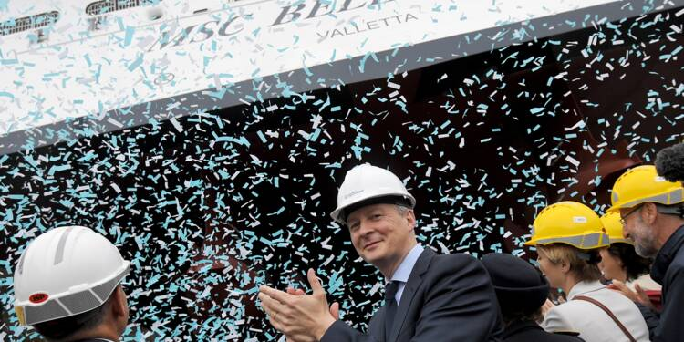 STX: nouvelles commandes, Le Maire confiant dans l'accord avec Fincantieri