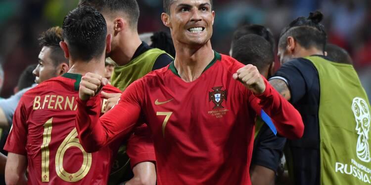 Mondial-2018: le Portugal de Ronaldo mène 2 à 1 contre l'Espagne à la pause