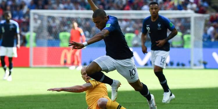 Mondial-2018: à la pause, la France n'a pas trouvé l'ouverture contre l'Australie