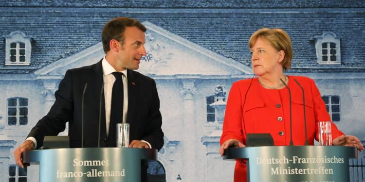 Emmanuel Macron et Angela Merkel s'engagent pour un budget commun pour la zone euro