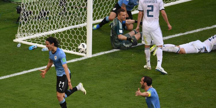 Mondial-2018: l'Uruguay refroidit la Russie avant les 8e