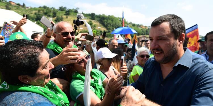 """Italie: à Pontida, la Ligue """"plus forte que jamais"""" organise sa kermesse annuelle"""