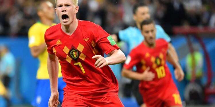 La Belgique rejoint la France en demi-finale, en battant le Brésil 2 à 1