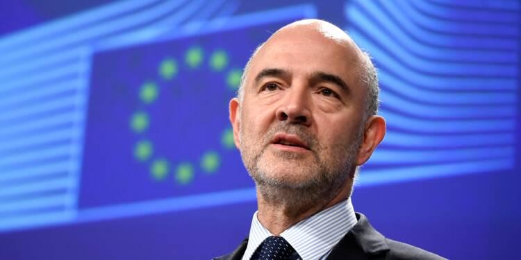 """Le budget italien """"paraît aujourd'hui hors des clous"""", estime Moscovici"""