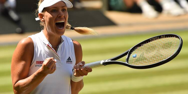 Wimbledon: Kerber accède à une 4e finale en Grand Chelem