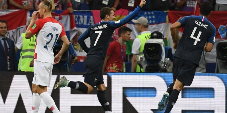 Mondial: la France mène 2 à 1 à la pause en finale contre la Croatie