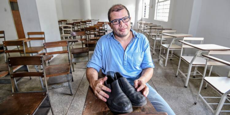 Au Venezuela, la colère d'un professeur mal chaussé