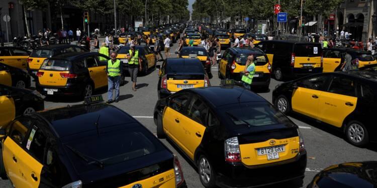 Espagne: taxis en grève contre la concurrence des VTC