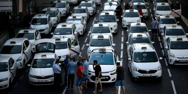 Espagne: fin de la grève anti-VTC des taxis, les régions réguleront le secteur