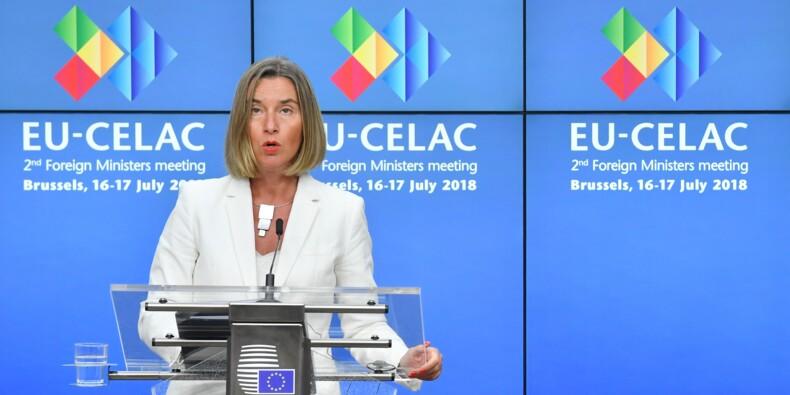 """Iran: l'UE """"regrette"""" les sanctions américaines et veut défendre ses intérêts"""