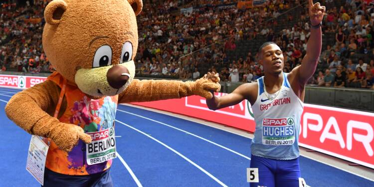 Athlétisme: le Britannique Hughes sacré sur 100 m, Vicaut forfait