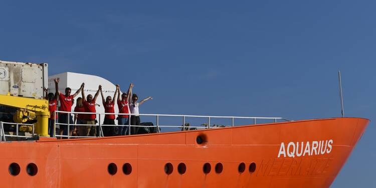 L'Aquarius devrait accoster à Malte en début d'après-midi mercredi, selon SOS Méditerranée