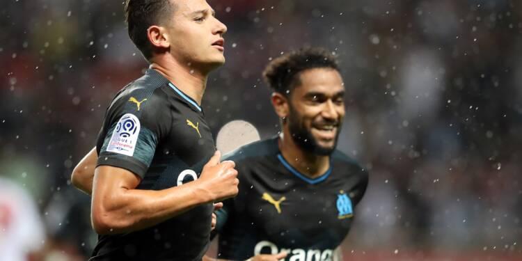 Ligue 1: Thauvin et Germain offrent à l'OM la victoire à Monaco malgré Rami