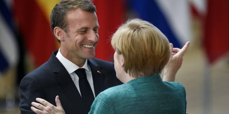 En pré-campagne pour les européennes, Macron reçoit Merkel
