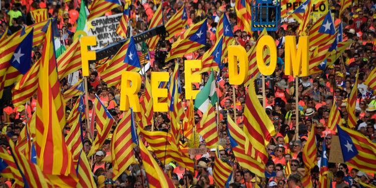 A Barcelone, un million de Catalans montrent leur force