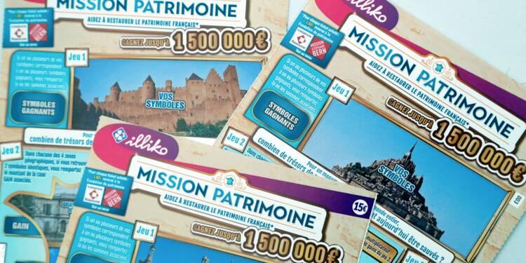 Loto du patrimoine: 14 millions d'euros de mises, +30% par rapport à un tirage du loto