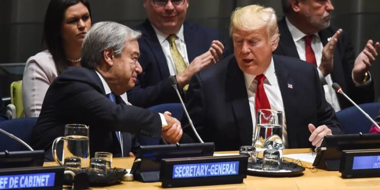 """De retour à l'ONU, Donald Trump loue le """"formidable"""" Kim Jong Un"""