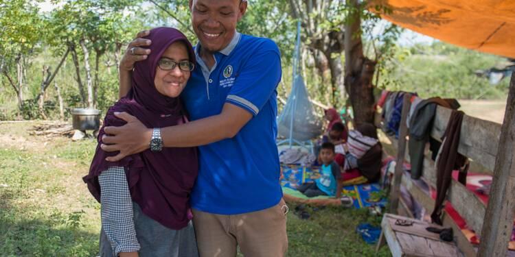 Lueur d'espoir en Indonésie avec les retrouvailles d'un couple