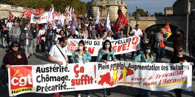 Retraités, salariés et fonctionnaires dans la rue contre la politique sociale de Macron