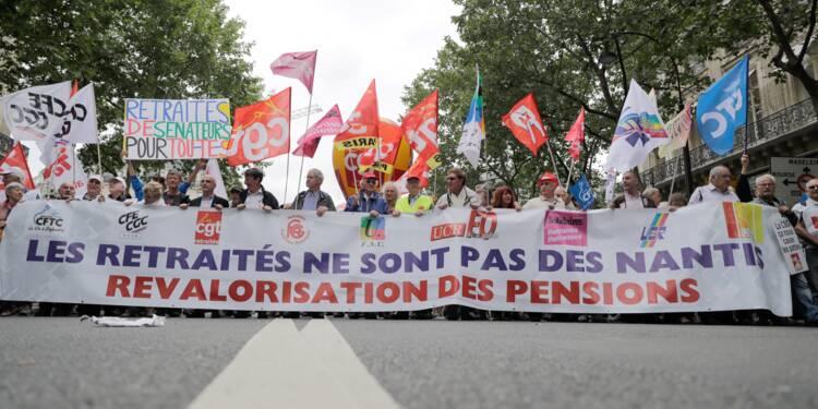 """Les retraités manifestent jeudi pour défendre leurs """"pensions en danger"""""""