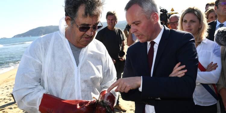 """François de Rugy veut """"faire payer les responsables"""" de la marée noire dans le Var"""