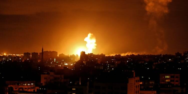 Roquettes palestiniennes sur Israël, raids israéliens sur Gaza