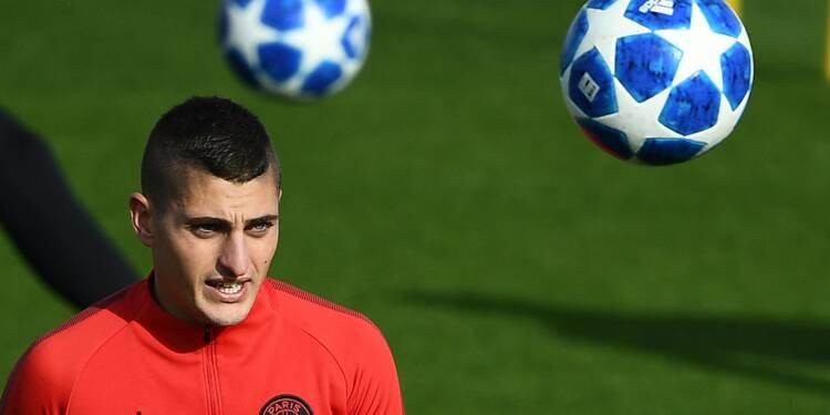 PSG-Lille: Verratti titulaire, Cavani absent de la feuille de match