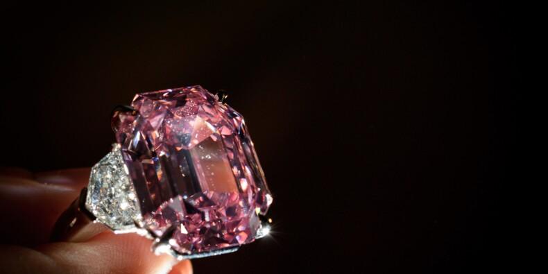 Ce diamant rose a été adjugé à un prix record