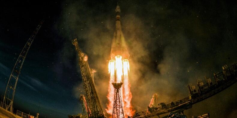 Arrimage réussi d'un Soyouz avec l'ISS, premier vol habité depuis l'échec d'un lancement