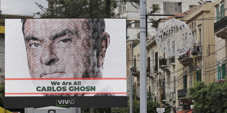 """""""Nous sommes tous Carlos Ghosn"""", slogan d'une campagne au Liban"""
