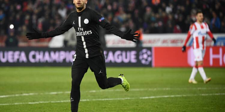 Le PSG, vainqueur de l'Etoile Rouge 4-1, va en 8e de finale de Ligue des champions