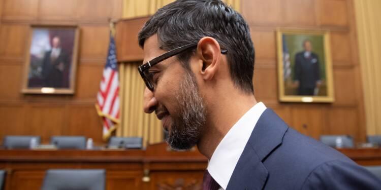 """Pas de """"biais politique"""" sur Google affirme son patron devant le Congrès américain"""