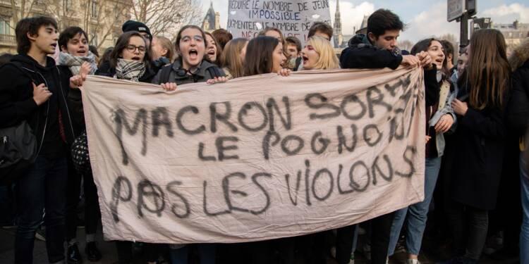Lycées: 450 établissements perturbés, le mouvement se poursuit sans s'amplifier